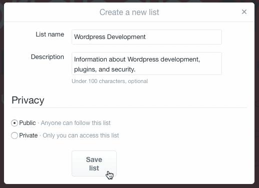 Creating A Twitter List