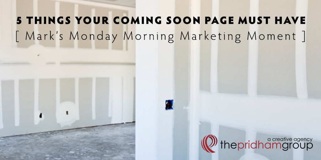 Mark's Monday Morning Marketing Moment #4