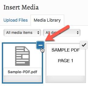 Deselect PDF