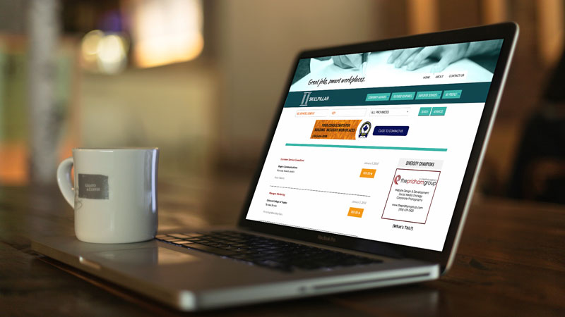 Photo of SKILLPILLAR website by The Pridham Group