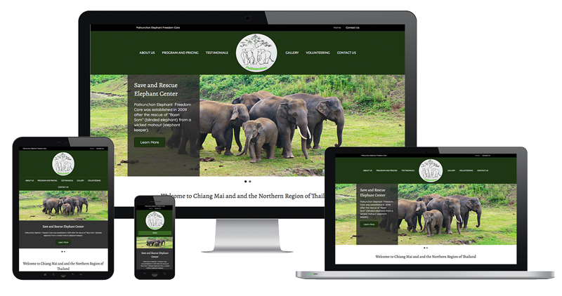 Website Sample of Patkunchon Elephant Freedom Care Camp