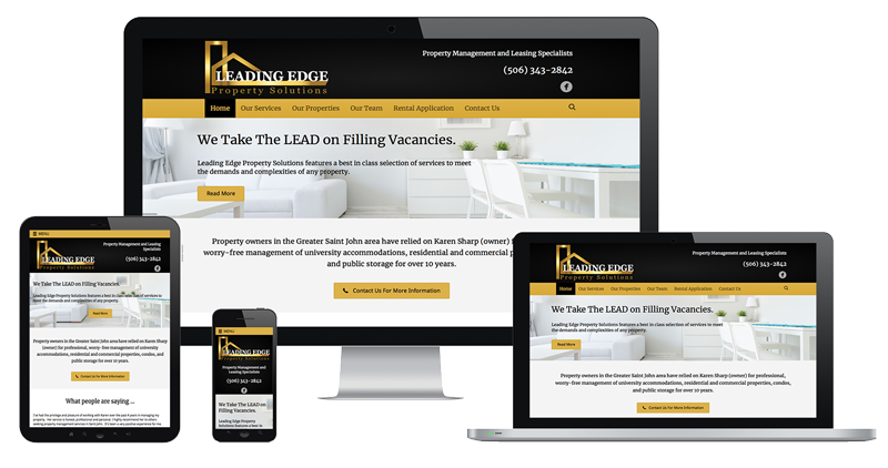 Website Sample of Leading Edge Property Services