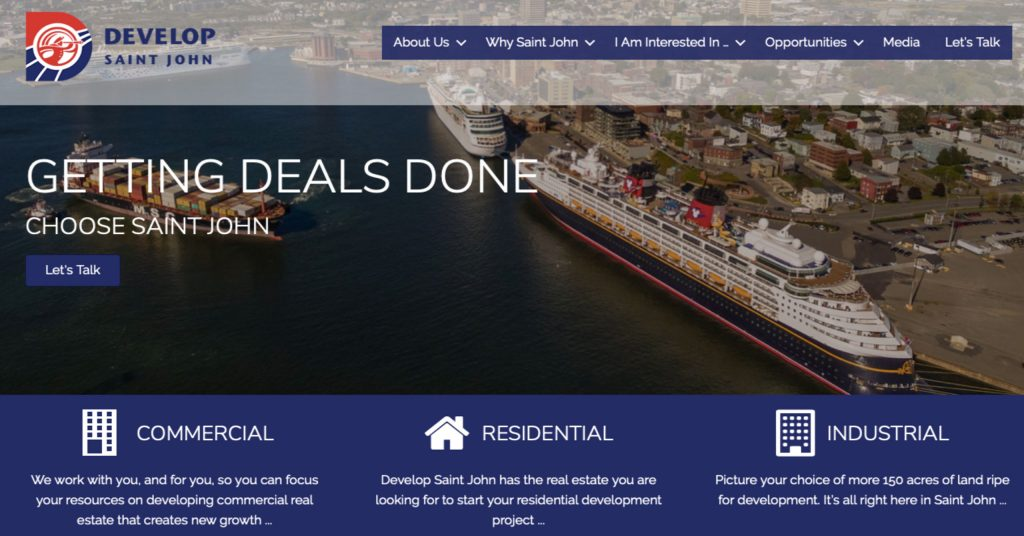New Website Launched for Develop Saint John