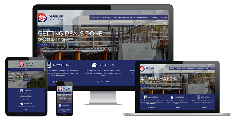 Website of Develop Saint John by The Pridham Group