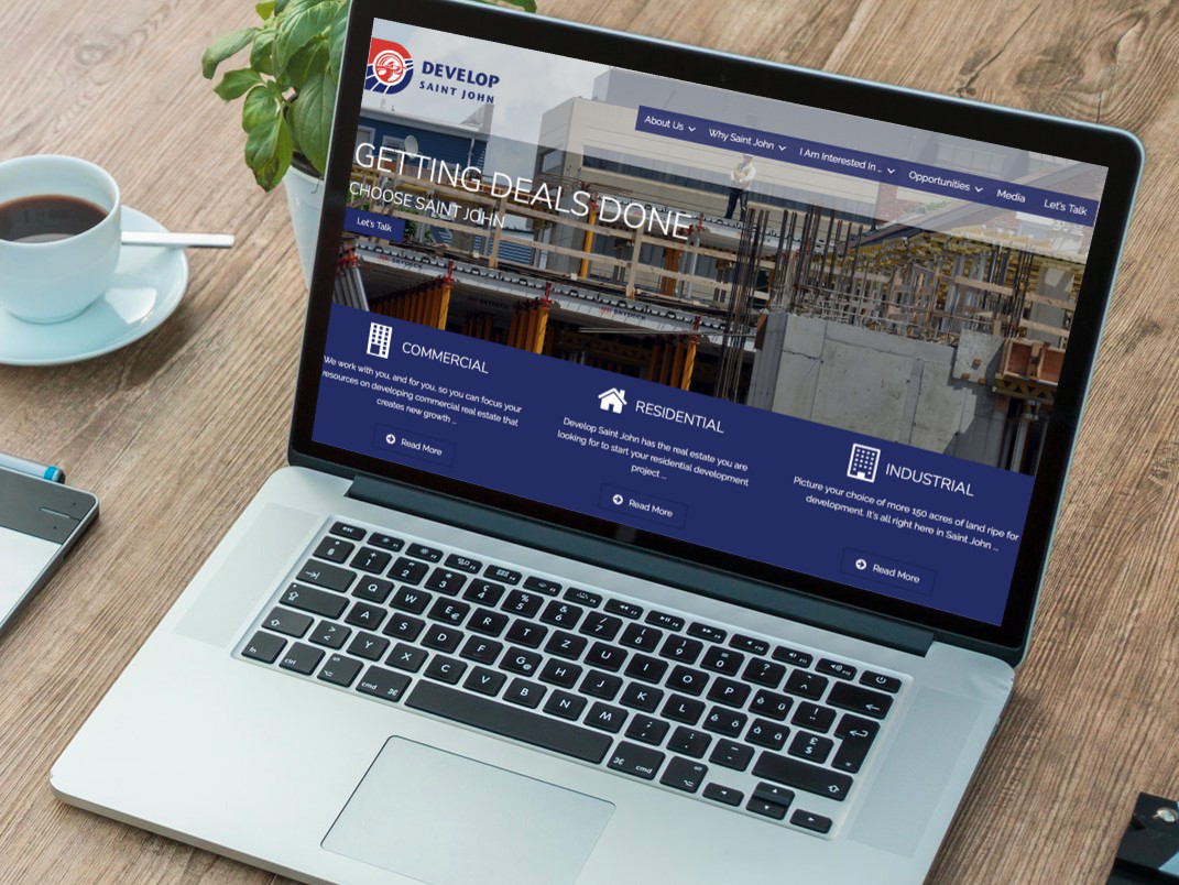 Image of the Develop Saint John website