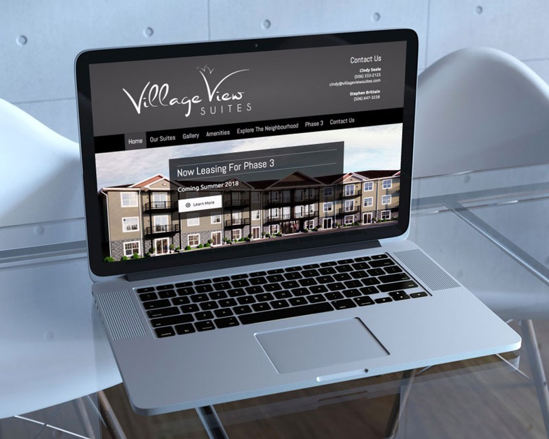 Village View Suites Website by The Pridham Group