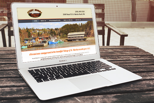 Fundy Woods Cmpground and Cottages website by The Priidham Group