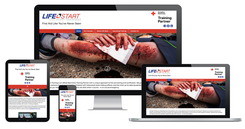 Life Start Training website by The Pridham Group