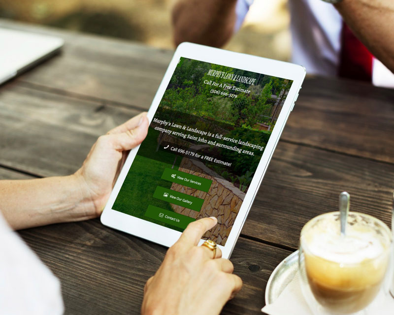 Murphy's Lawn and Landscape website by The Pridham Group