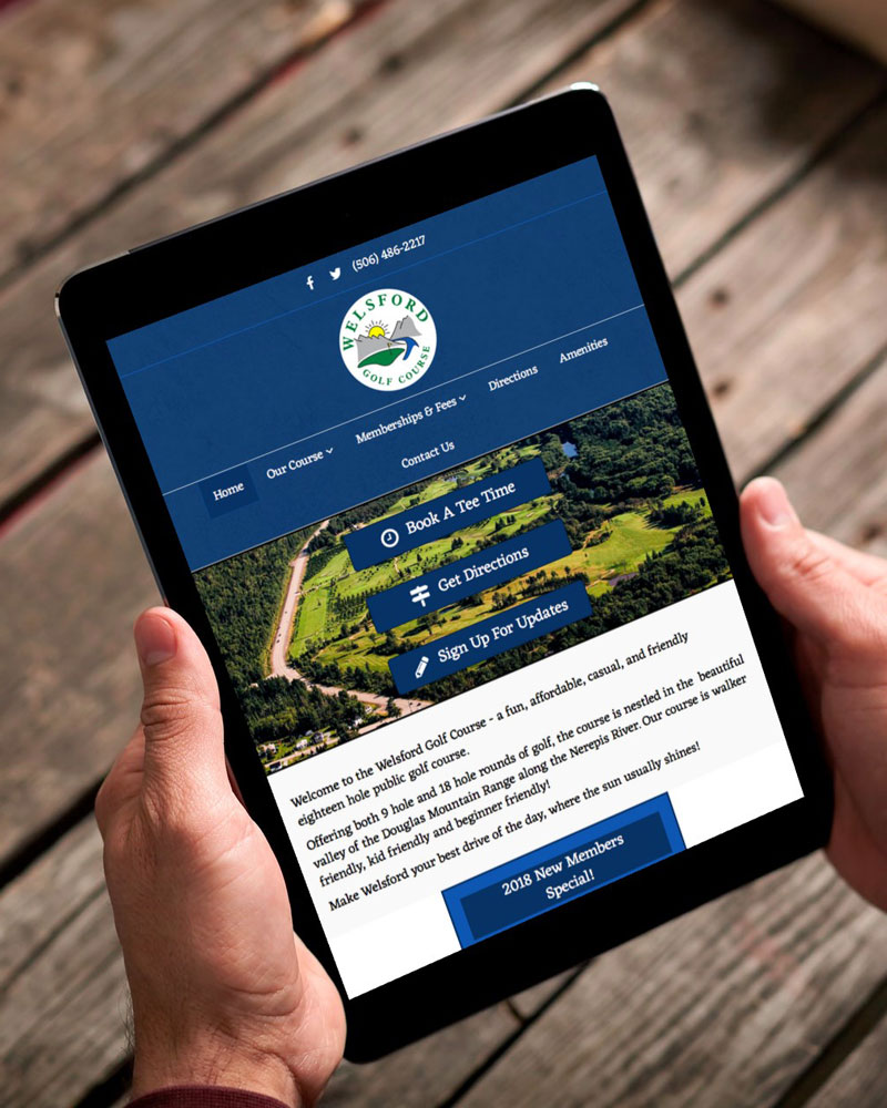 Welford Golf Course website by The Pridham Group