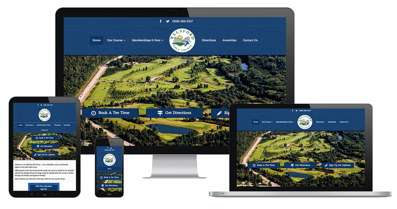 Weslford Golf Course website by The Pridham Group