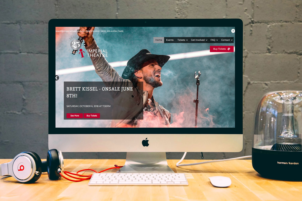 Imperial Theatre Website by The Pridham Group