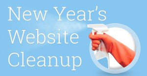 New Years Website Cleanup