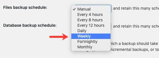Weekly Backup