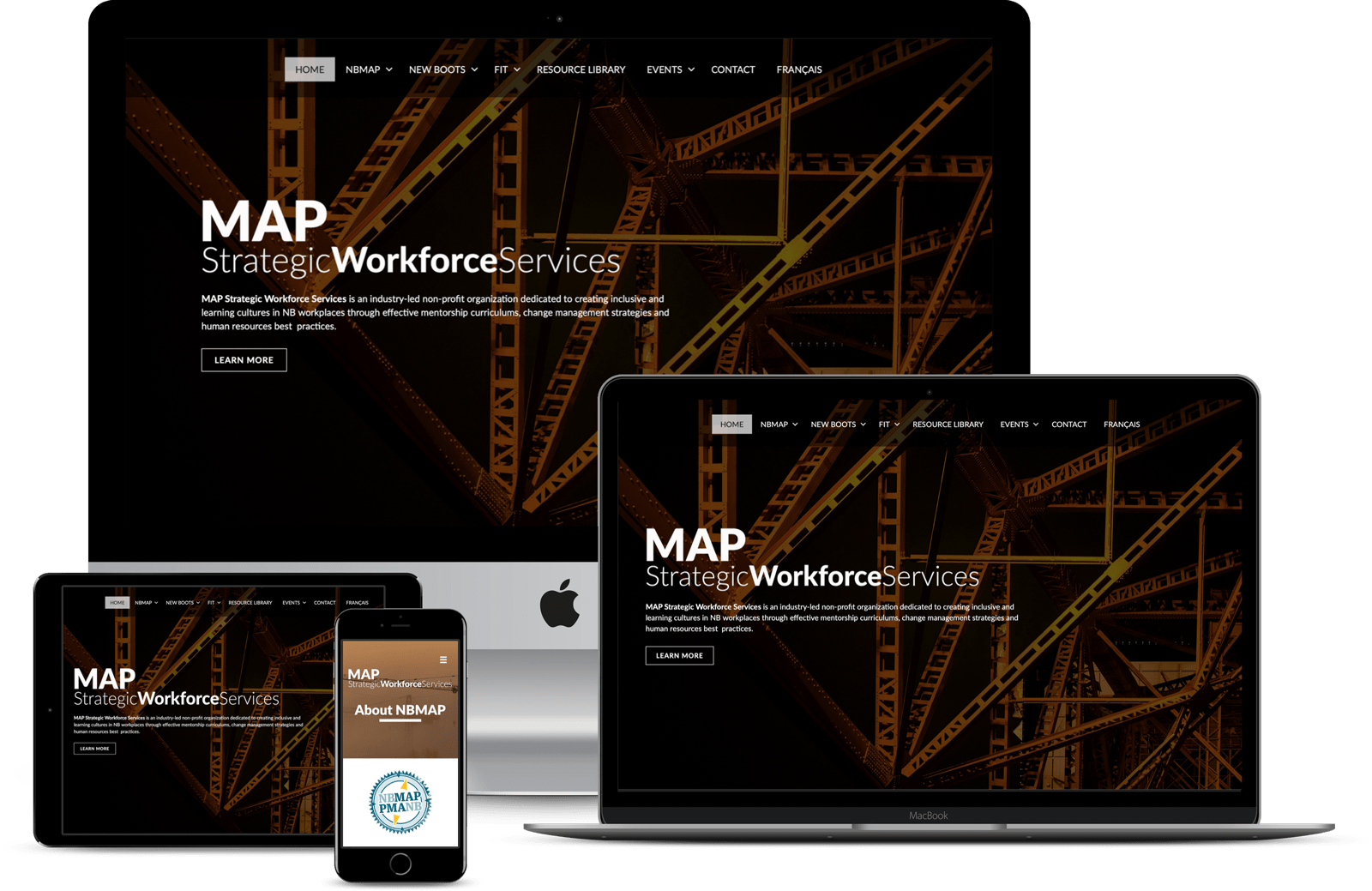 MAP-Strategic-Workforce-Services Displayed On Multiple Devices