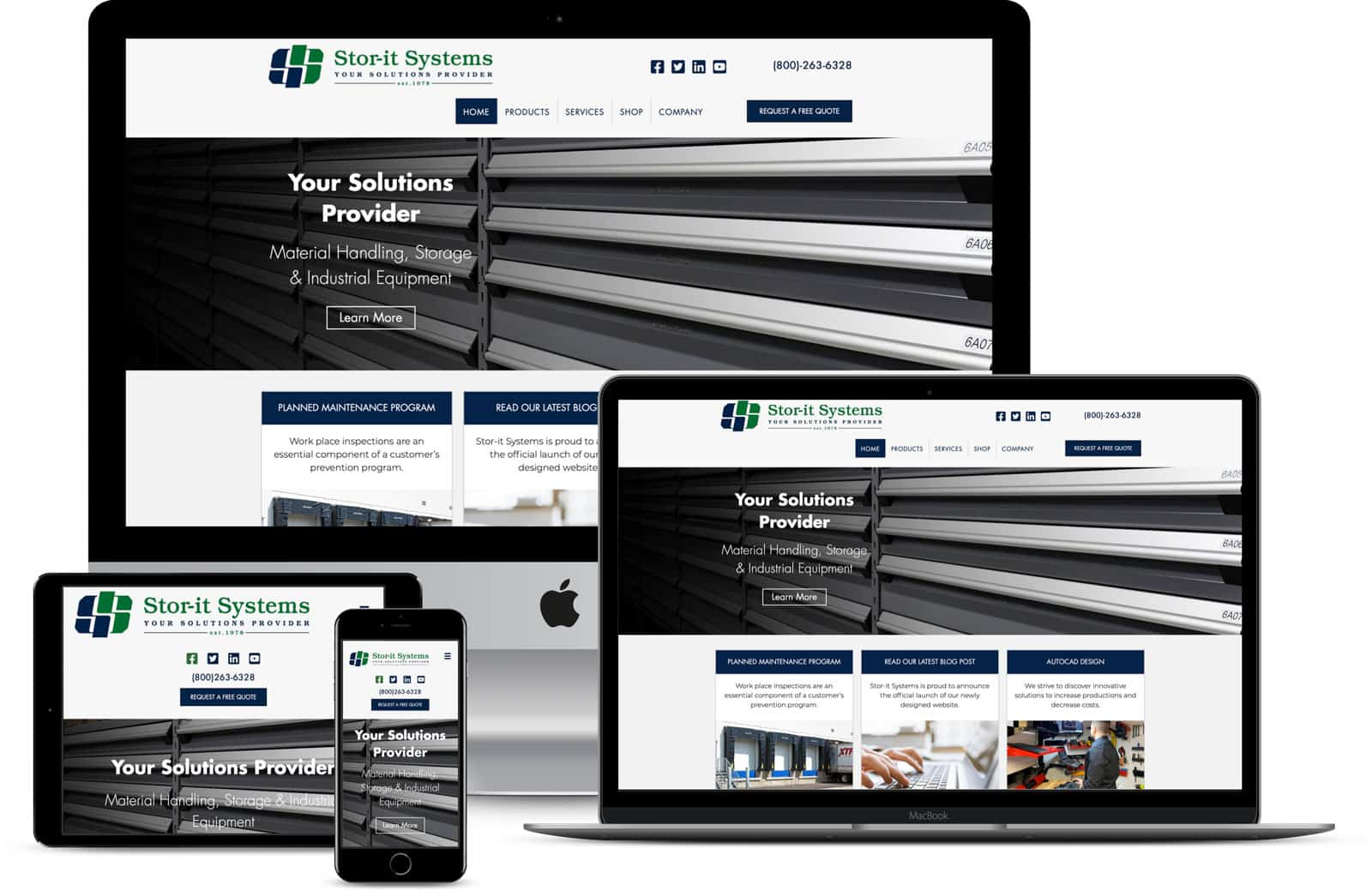 The Pridham Group Website Design for Store-It-Systems
