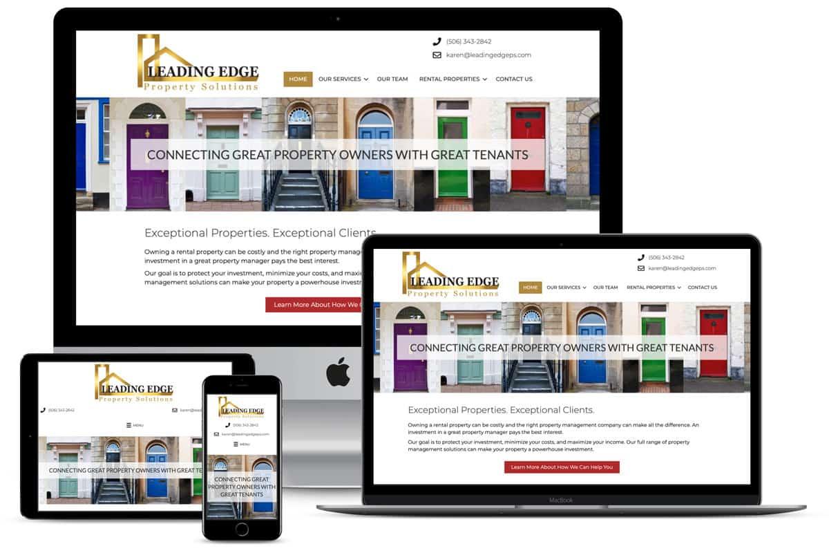 Leading Edge Property Solutions Website Design