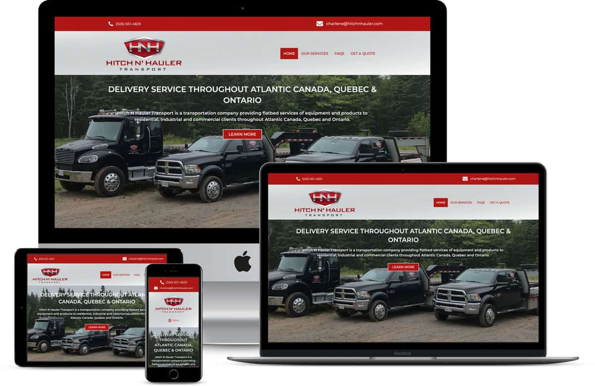 Hitch N' Hauler Transport website design by The Pridham Group