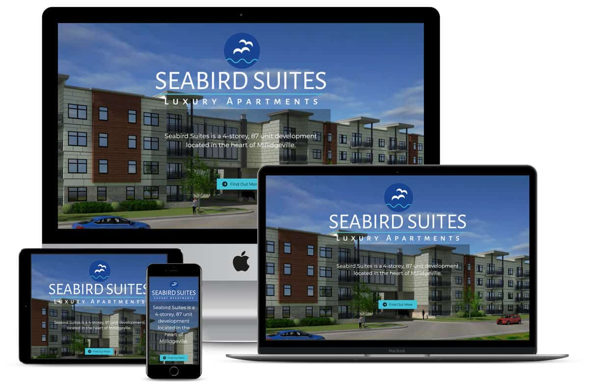 SeaBird Suites website design by The Pridham Group